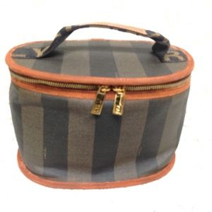 Fendi, Pequin Stripes Coated Canvas Cosmetic Pouch